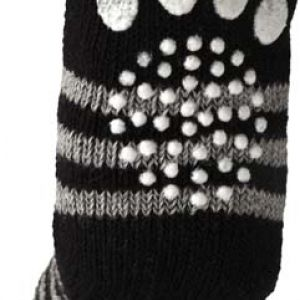 PET SOCKS 4PCS/SET L BLACK/GREY
