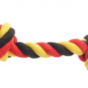 COTT SOCCER ROPE 2KNOT BLK/YEL/RD35