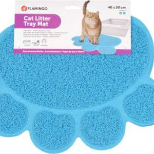 CAT LIT TRAY MAT PAW ANT GN/BL40X30