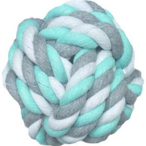 COTTON BALL MINT GRN/WHI/GREY 5.5CM