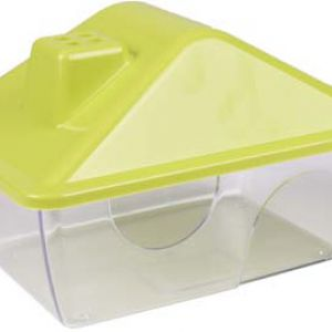HAMSTER HOUSE RIGO LIME/TRANSPARENT
