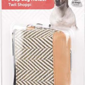 POOP BAG HOLDER TWIL SHOPPI BROWN
